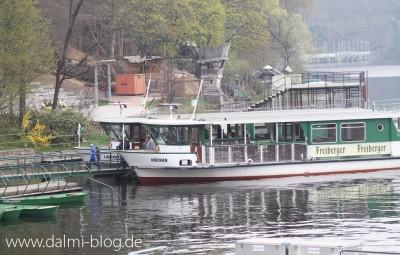Bootsverkehr Talsperre Kriebstein